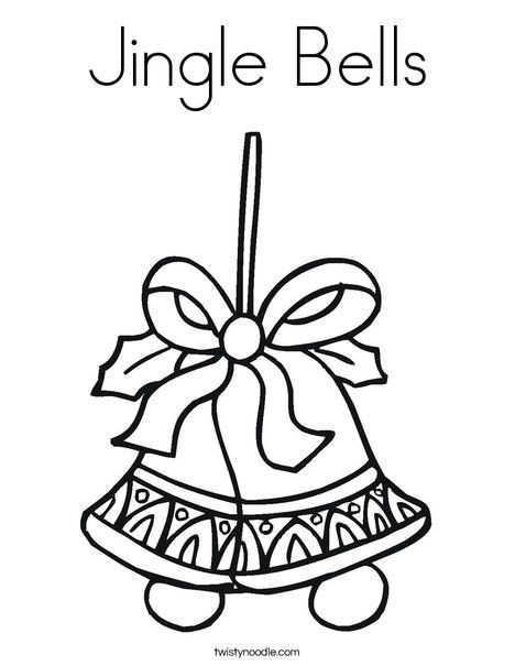 Jingle Bells Coloring Page Coloring Pages Christmas Coloring Pages Coloring Pages Inspirational