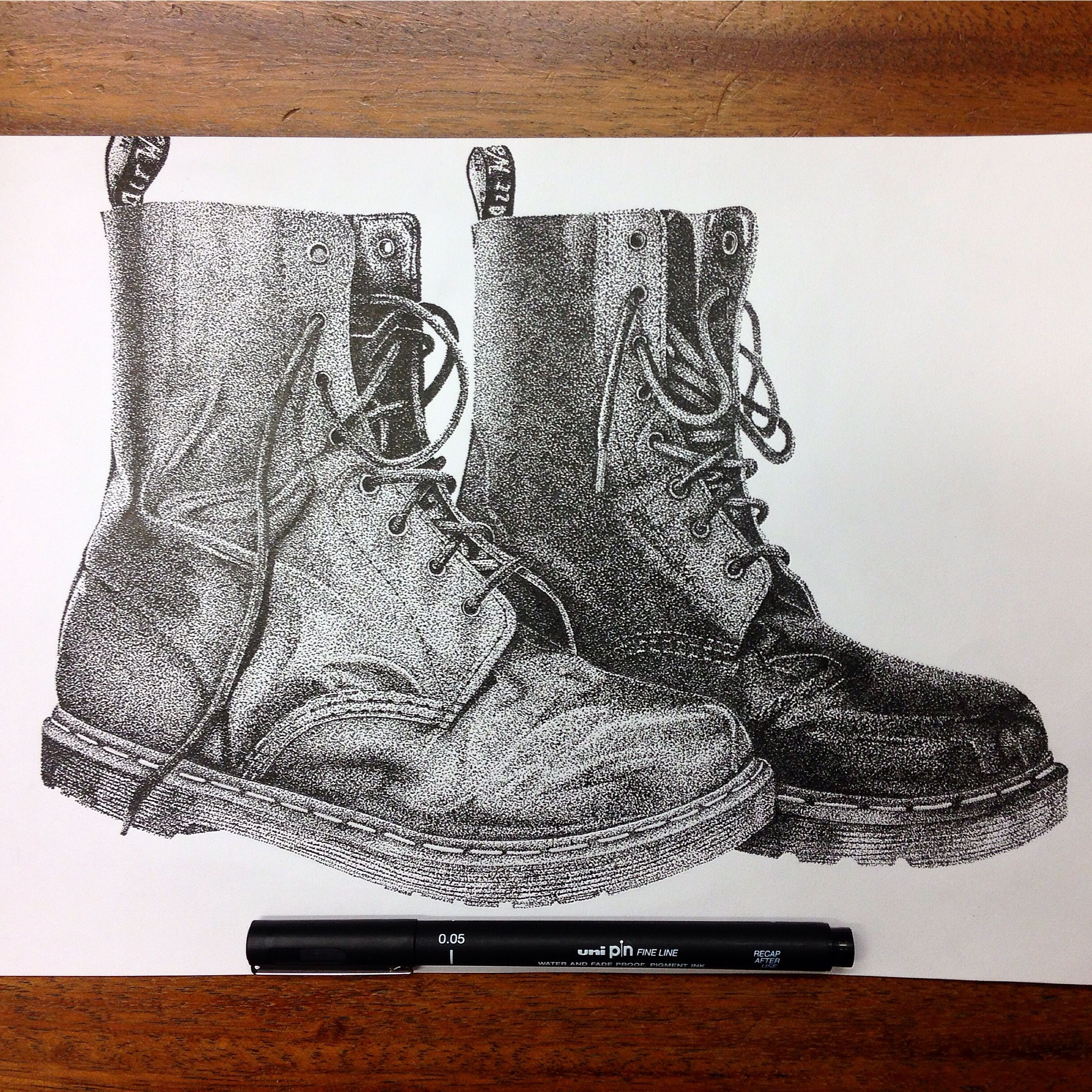 8a188f590ec Dr Martens dotwork drawing