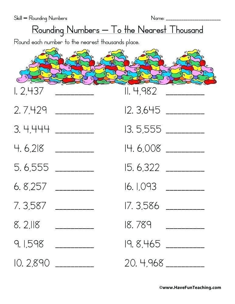 Pin On E Learning Days Fourth grade rounding worksheet