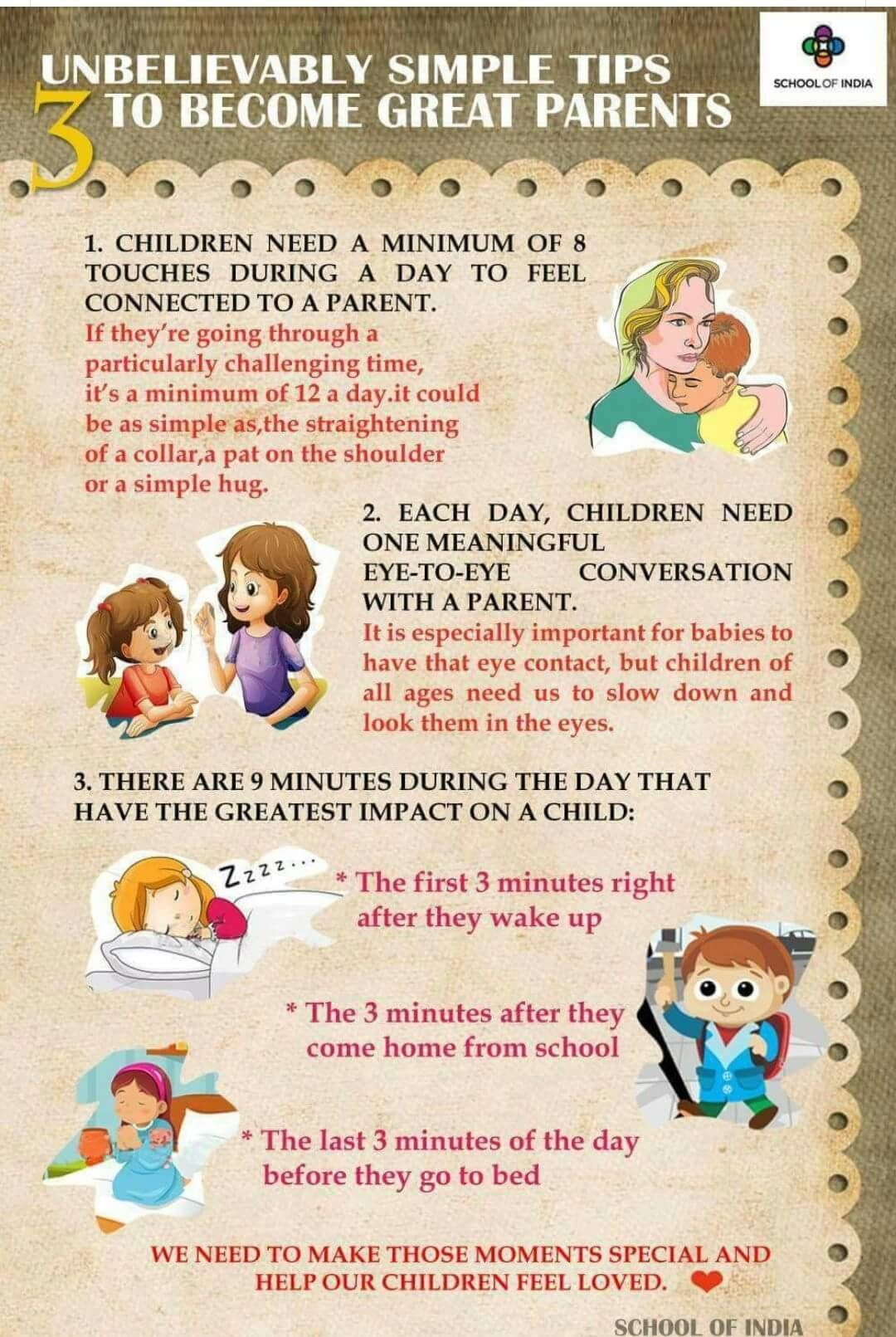 Touch Your Kid 8 Times A Day