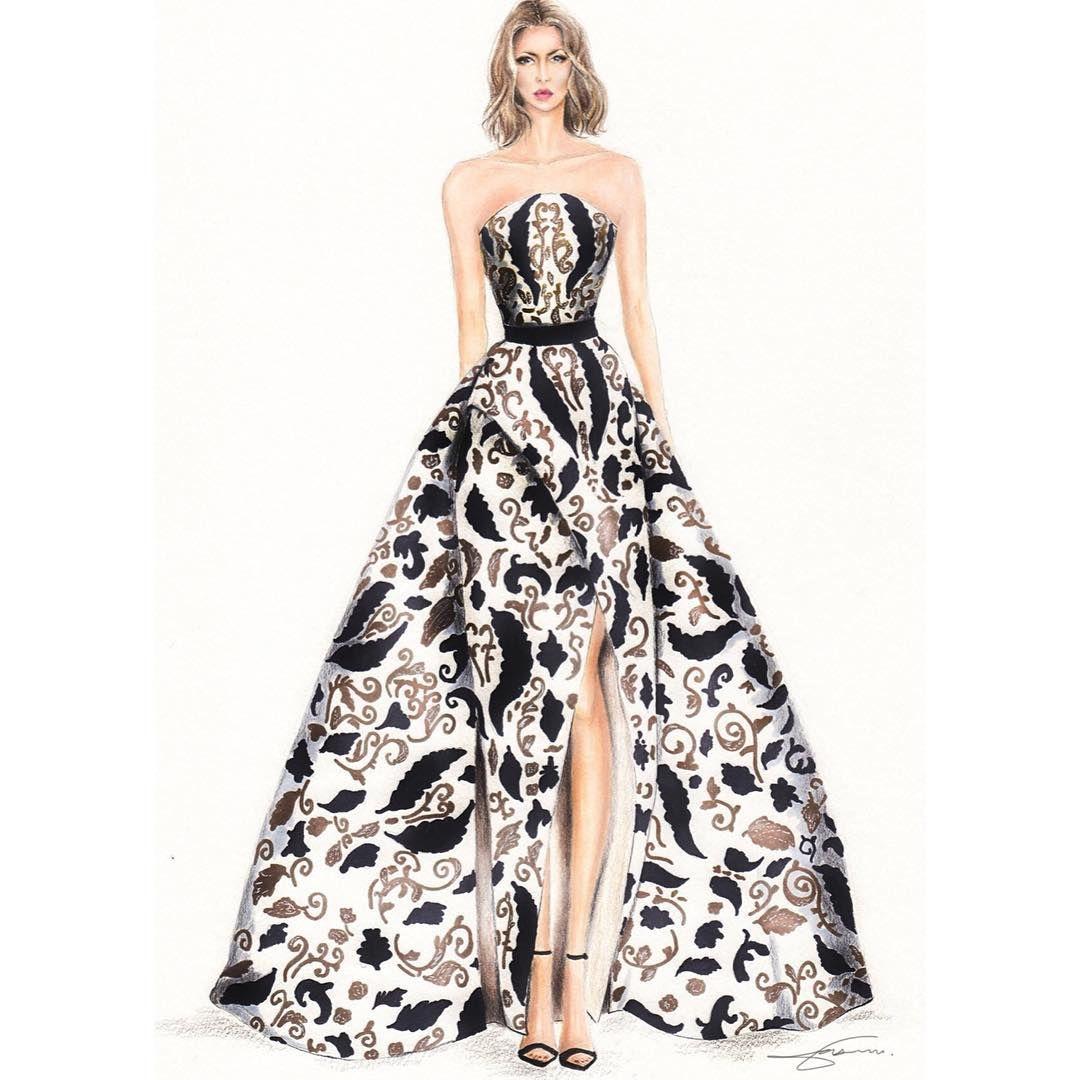 Ashistudio 2017 Copicmarker Prismacolor Fabercastellglobal And Sharpie Were M Fashion Illustration Dresses Fashion Drawing Dresses Fashion Illustration