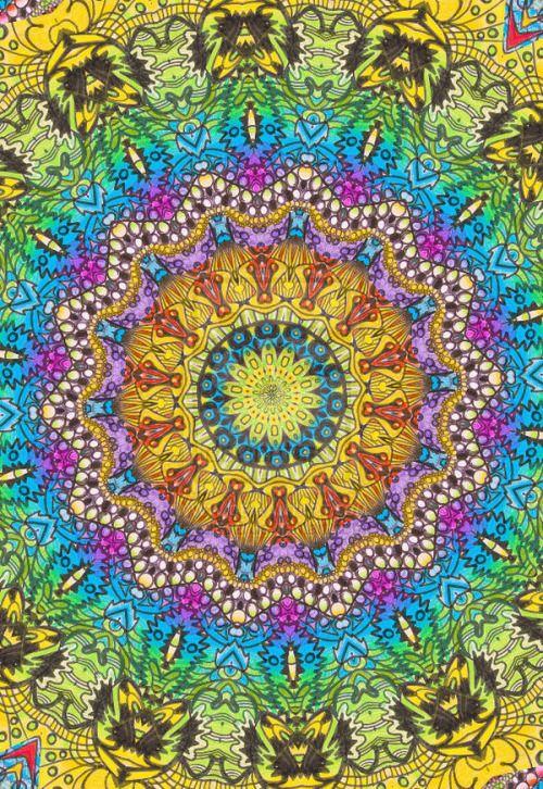 Step By Step Art Fractal Les Arts Mandala Art