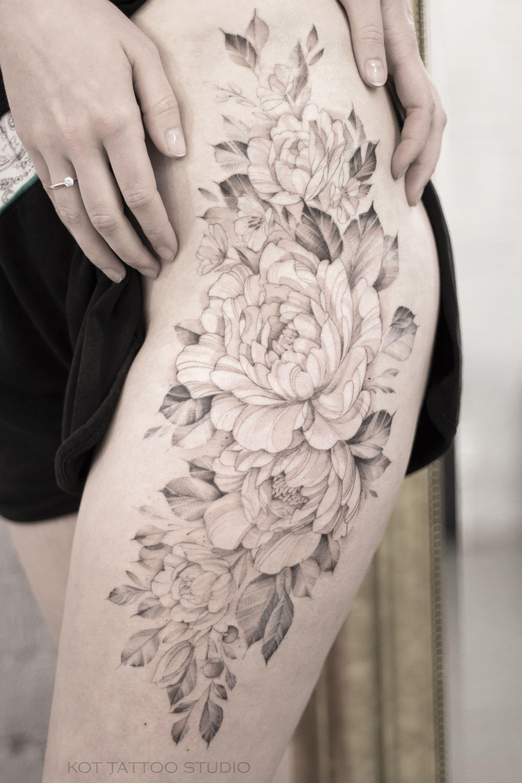 100 Peony Tattoo Designs For Men: Тату пионы. Тату для девушек. 100+ татуировок и эскизов на