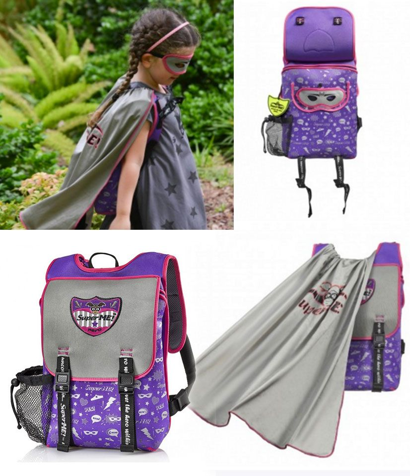 0117f81759fc Sparkle Powers Cape Backpack - superhero backpacks - But as quick as a  superhero can transform