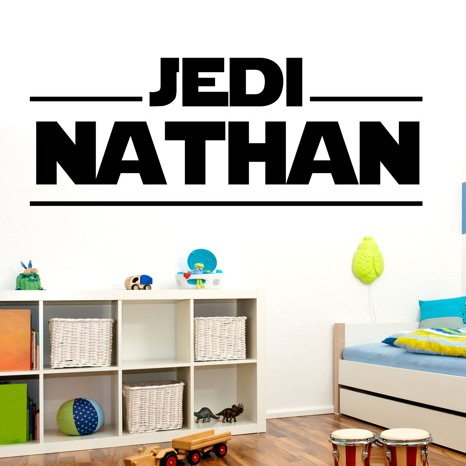 Personalized Customized STAR WARS Wall Decal Name By HappyWallz - Custom vinyl wall decals logo