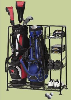 Deluxe Golf BAG Organizer  Golf Bag And Equipment Organizer  Rack/shelves   Keep Your Golf Gear In One Place. Three Basket Shelves For Accessories And  Bottom ...