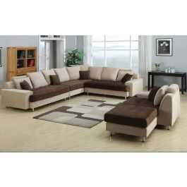Joice Modern Two Tone Sectional Sofa