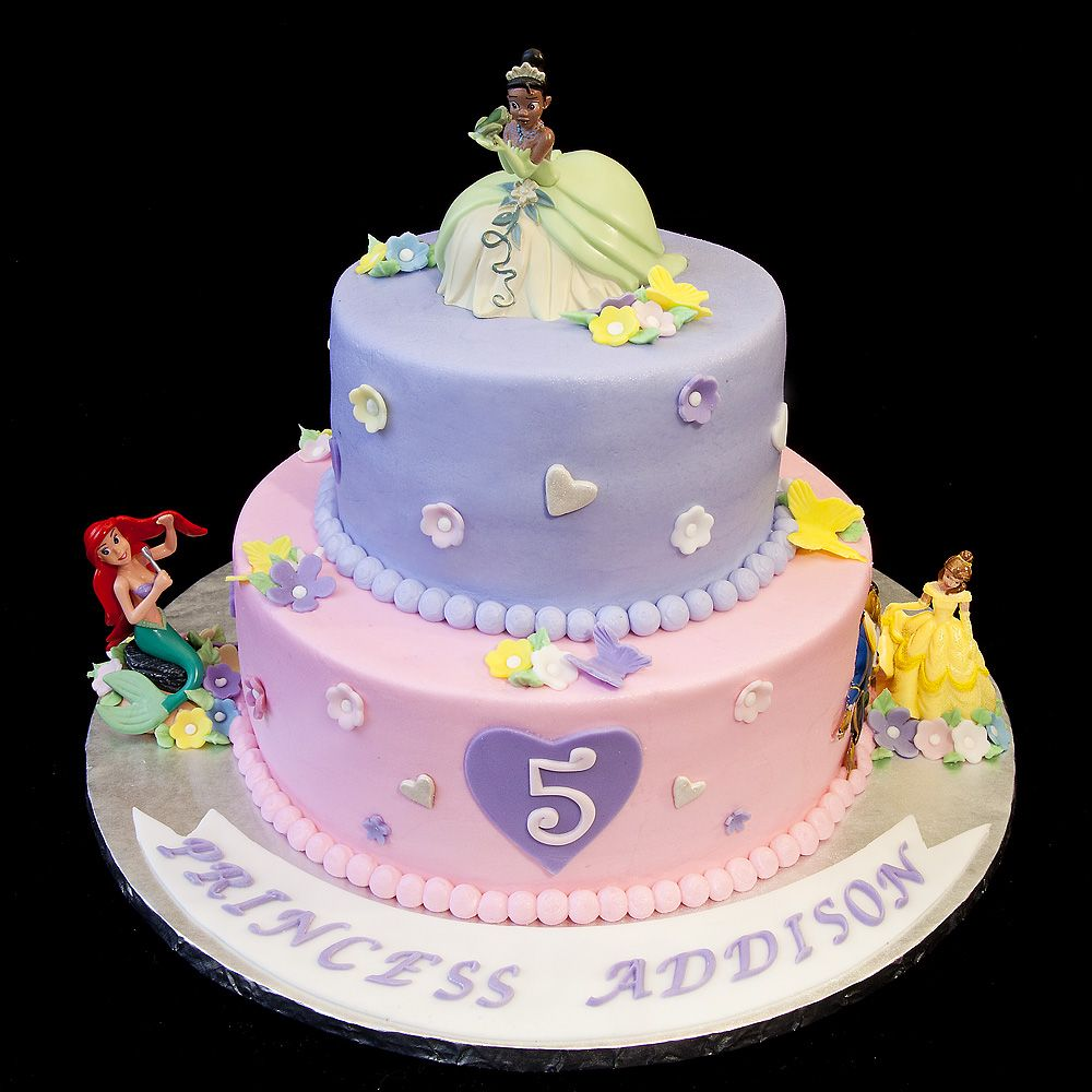 Birthday 078 Three Disney Princesses Cake For 5 Year Old