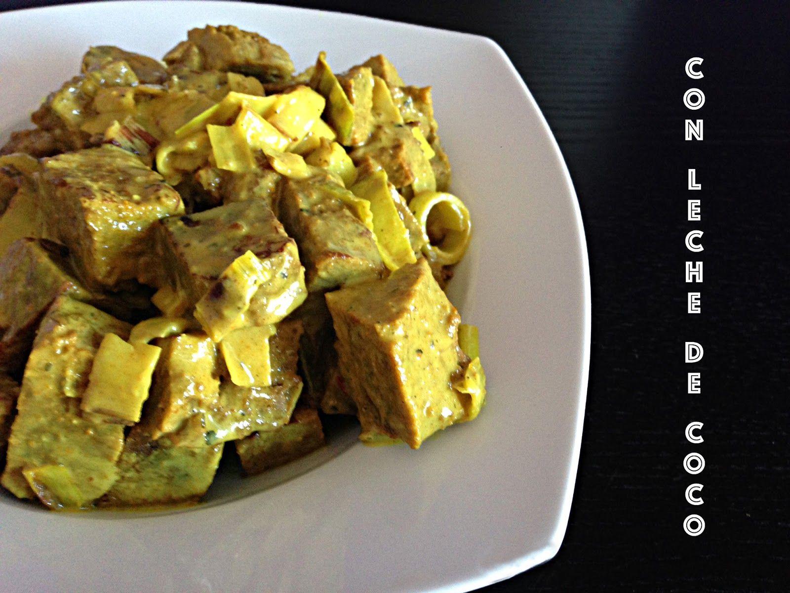 Como Cocinar El Seitan | Estofado De Seitan En Leche De Coco Recetas Para Cocinar