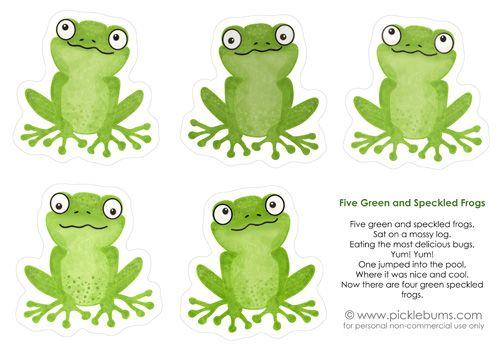 Five green frogs kid s music printable frogs pinterest fr sche grundschule und kinder - Frosch auf englisch ...