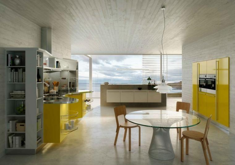 Moderne Dekoration in Gelb für die Küche - 20 sehr originelle Ideen - küche dekorieren ideen