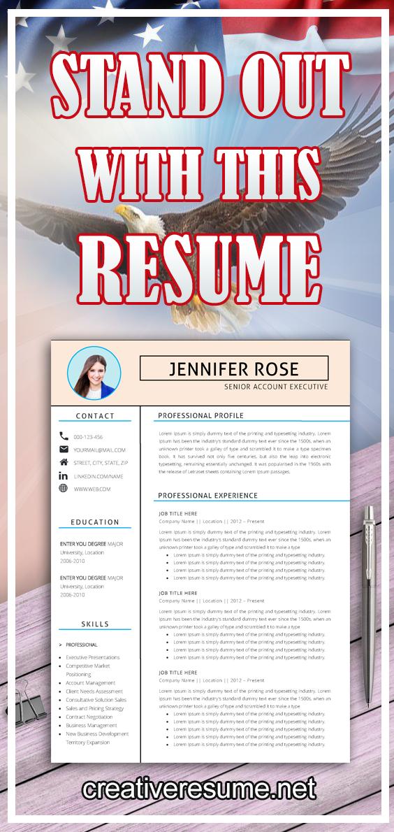 Resume Template Professional Resume Creative Resume Cv Template Modern Resume Resume Word Cv Good Resume Examples Resume Template Resume Examples
