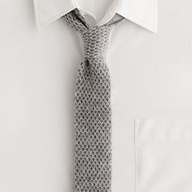 knit tie...bring on fall