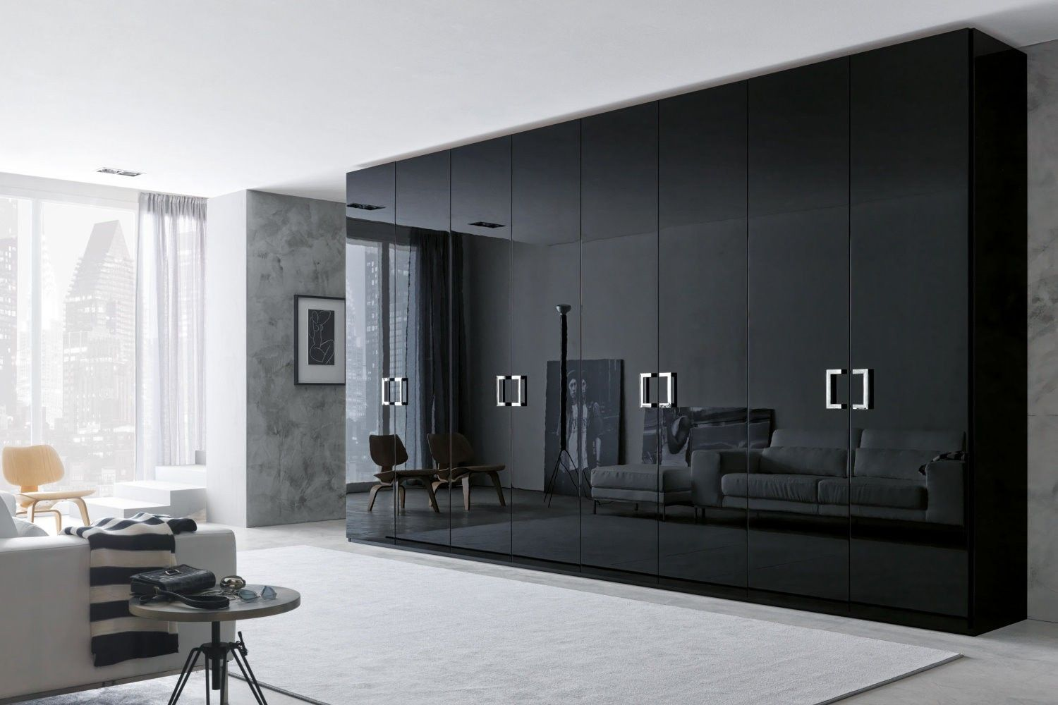 35 modern wardrobe furniture designs wardrobe design for Bedroom designs with tv and wardrobe