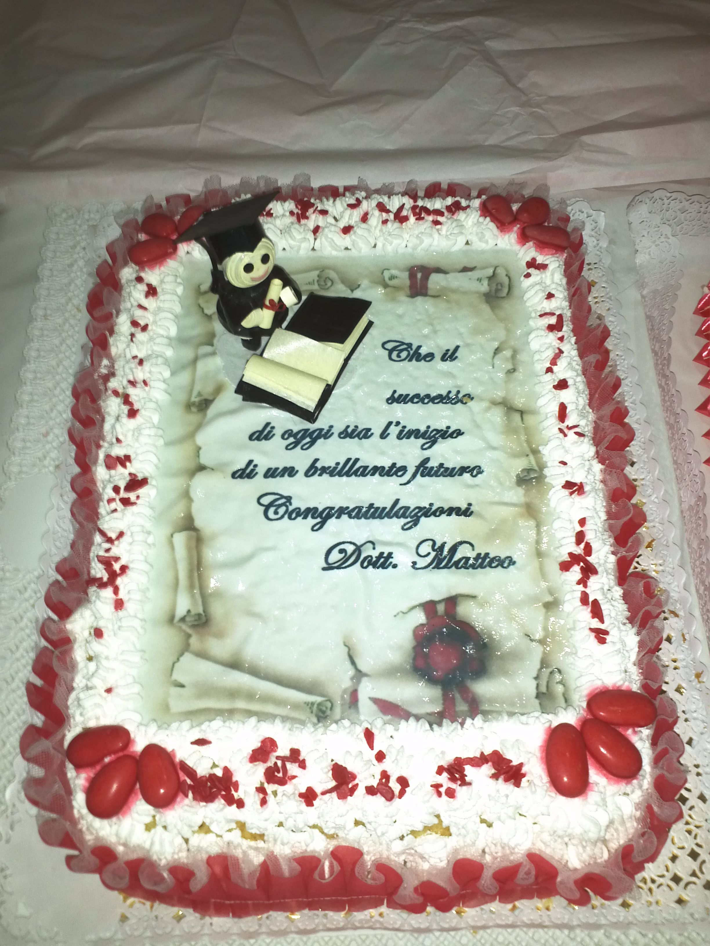 Decorazione per torta laurea quilling i miei lavori for Decorazioni per torte di laurea