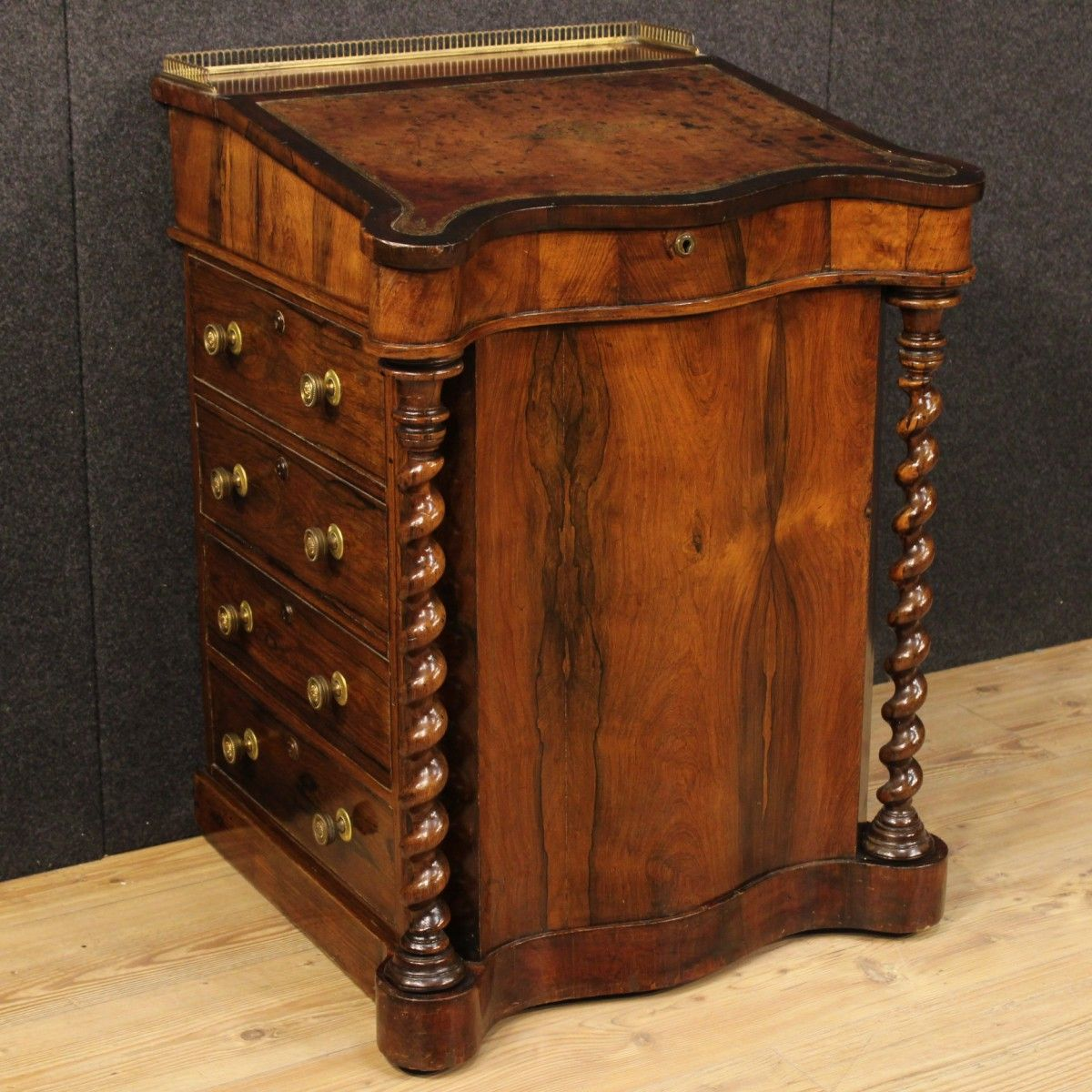 Price: 1600u20ac Elegant English Davenport Of The 19th Century. Furniture Made  By Palisander