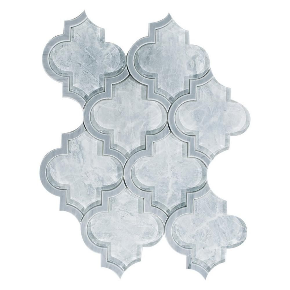 Floor And Decor Arabesque Tile Vogue Arabesque Water Jet Cut Glass Mosaic  Mosaics Cut Glass