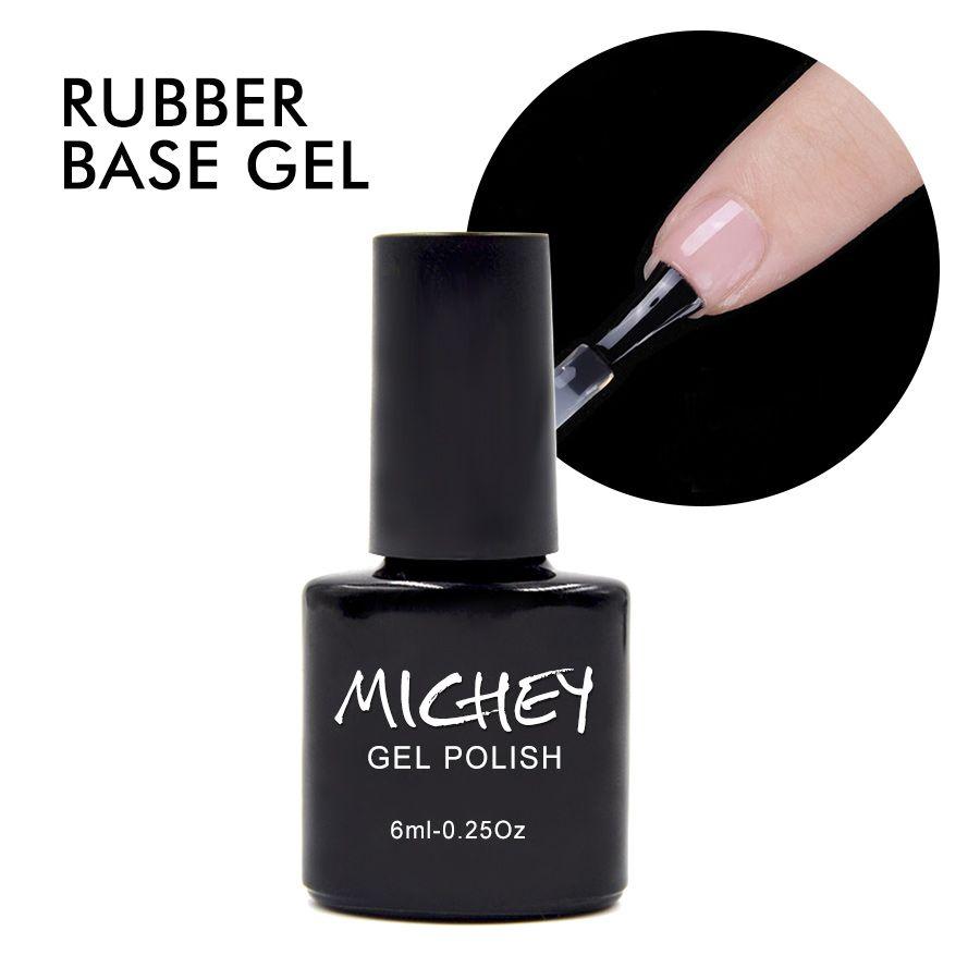 MICHEY UV Gel Polish Thick Rubber Base Gel Long-lasting Nail Gel ...