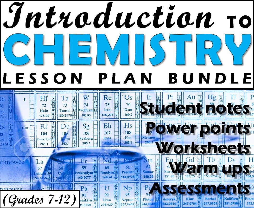 Lesson Plan Bundle Introduction To Chemistry