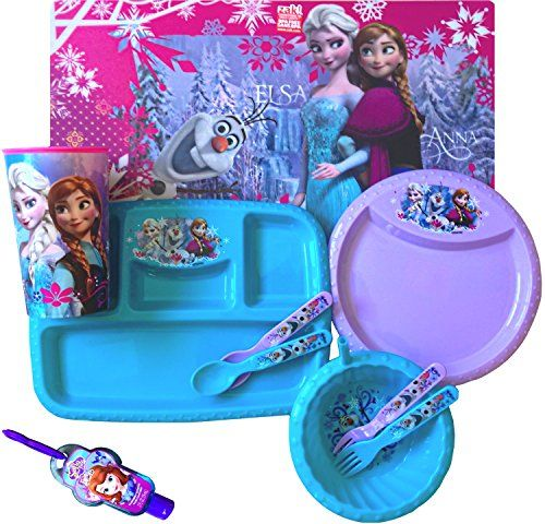 Disney Frozen 10 Piece Childrenu0027s Complete Dinnerware Set Placemat Plate Utensils Sipper  sc 1 st  Pinterest & Disney Frozen 10 Piece Childrenu0027s Complete Dinnerware Set Placemat ...