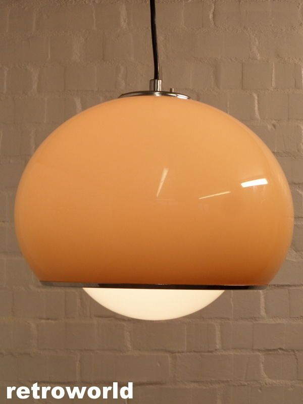 Iconic 60s 70s Harvey Guzzini Vintage Pendant Light Ing Available From Retroworld Www Retroworldonline