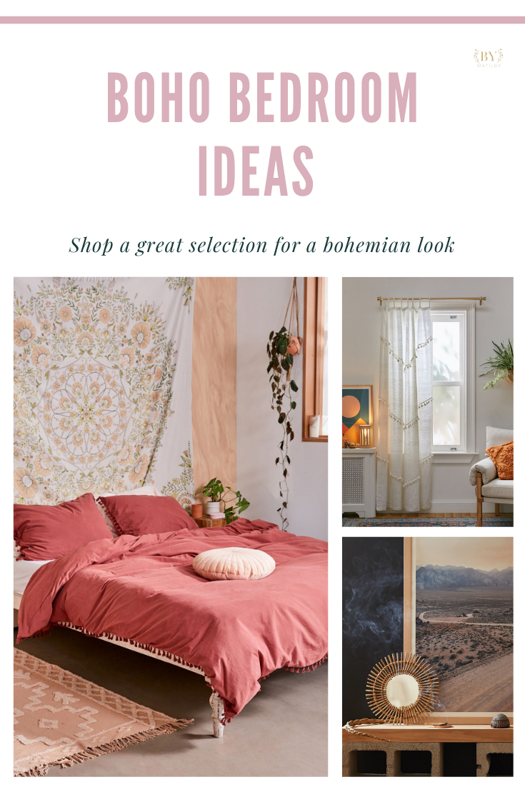 Great ideas for a boho bedroom. Wide selection from rugs, linens, curtains, mirrors to art to transform your room into a bohemian universe! - Home Sweet Home by Matilda #bohobedroom #bohostyle #boholife #bohonight #bohodecoration