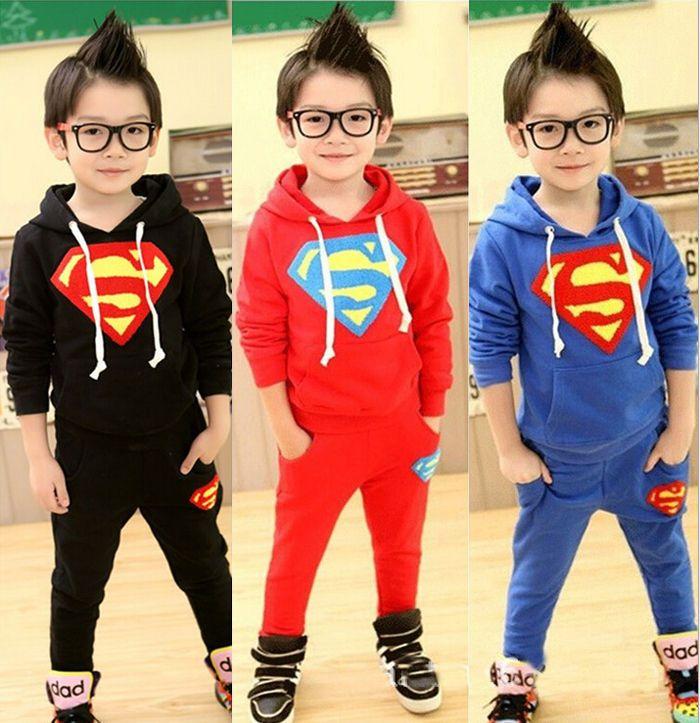3 Piece Tracksuit Hoodie Pants /& T-Shirt Red//Black Superhero Costume for Boys Kids Clothing Set