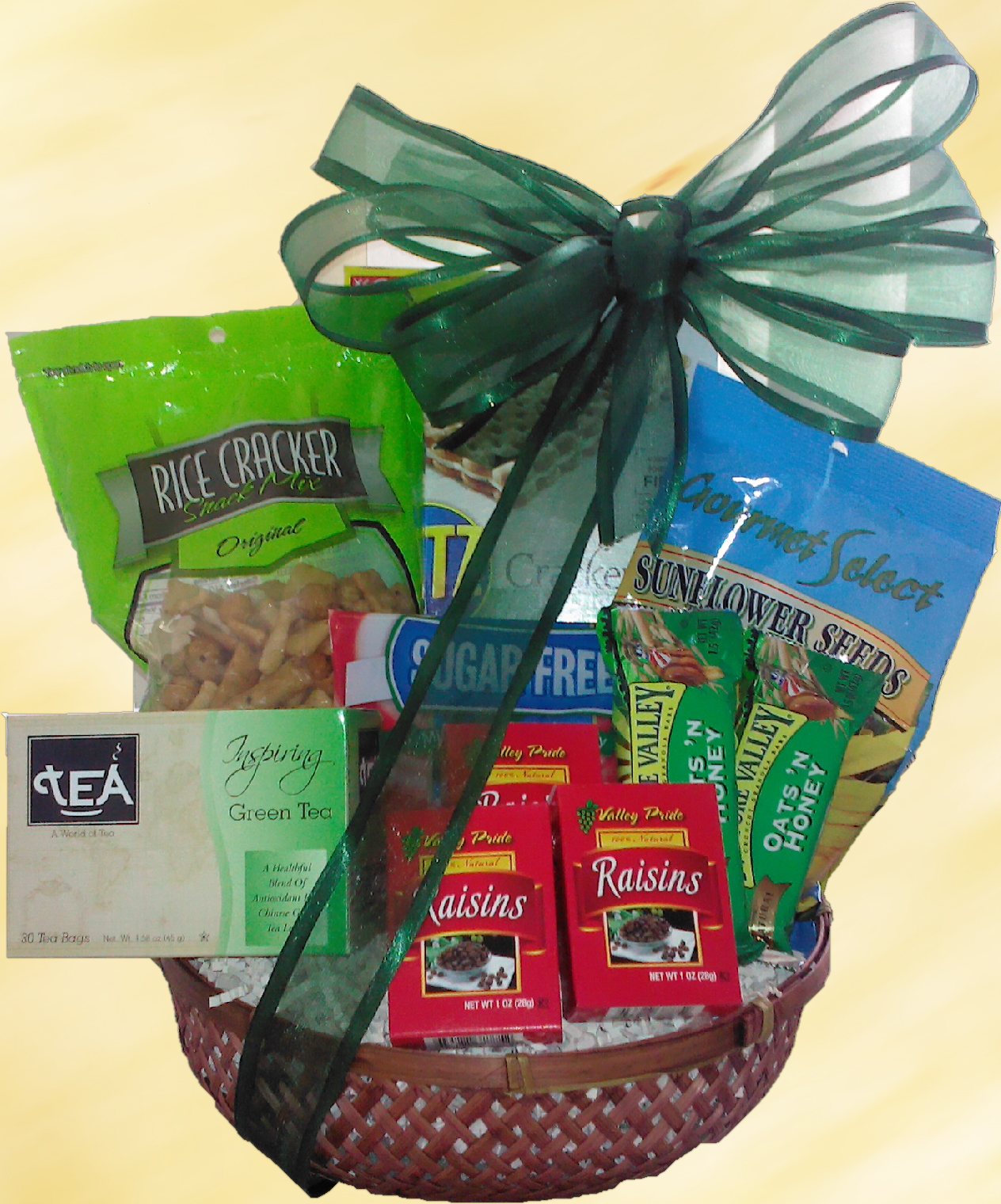 Healthy snack gift basket includes rice crackers sugar free healthy snack gift basket includes rice crackers sugar free mints wheat crackers negle Images