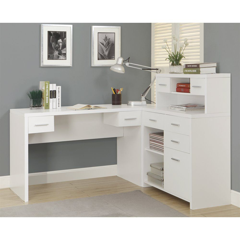 Shop Monarch Specialties I 7 L-Shaped Home Office Desk at Lowe\'s ...