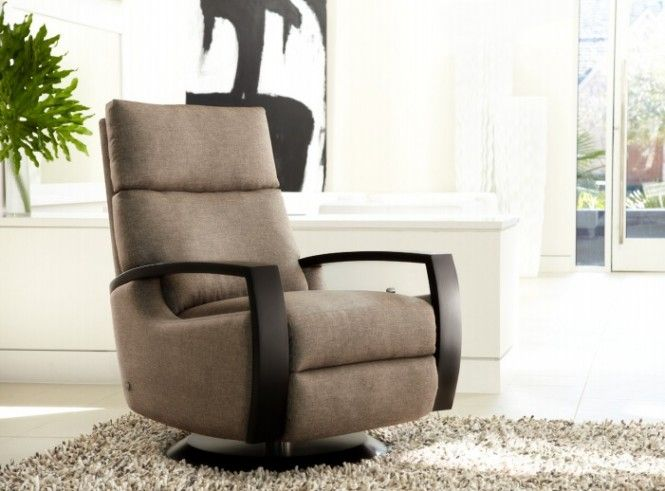 chloe taupe swivel recliner chair by american leather. Interior Design Ideas. Home Design Ideas