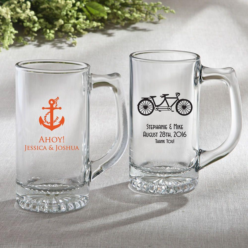 Personalized Glass Beer Mug 12.25 Oz – Wedding Design | Wedding ...