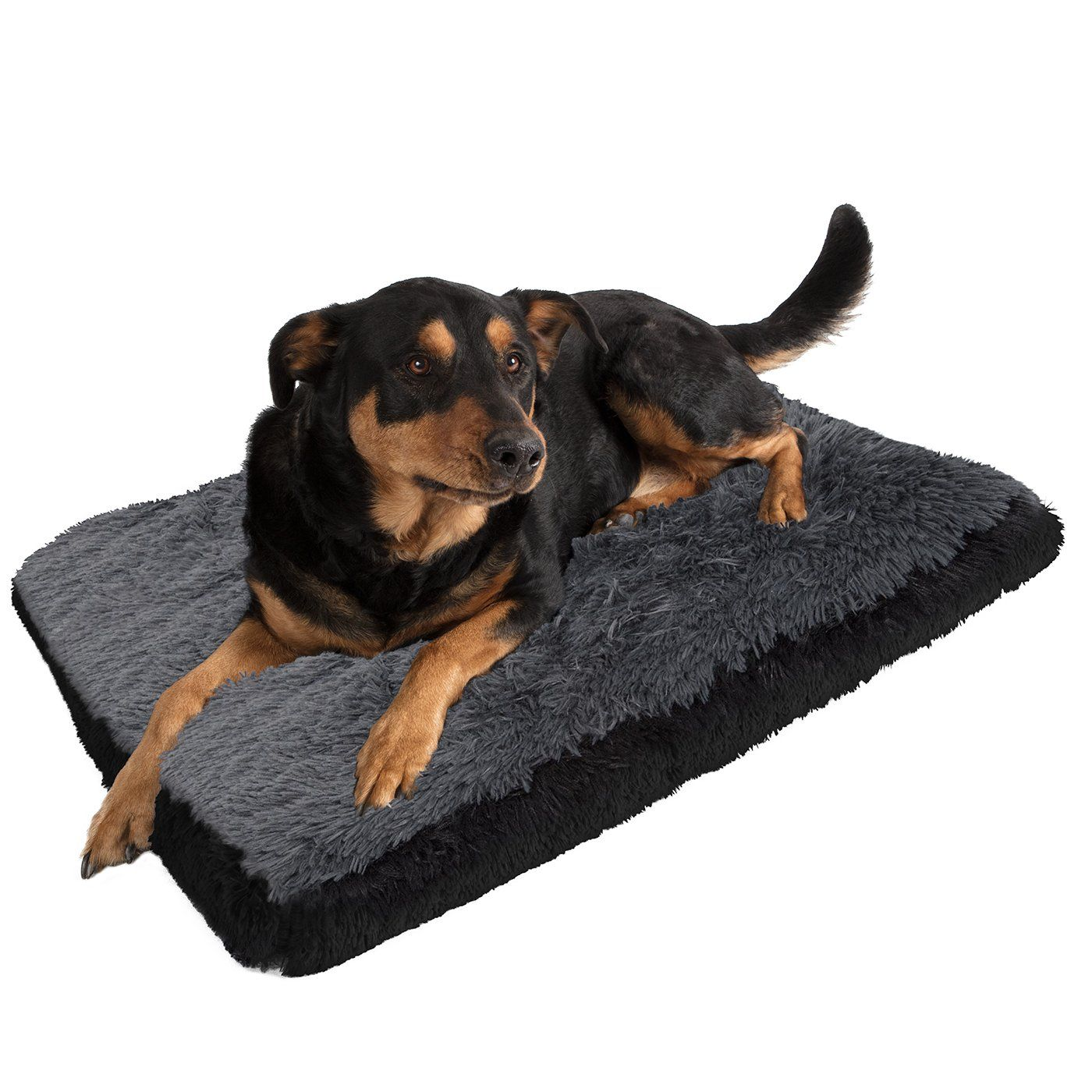 Paws and Pals Dog Bed for Pets and Cats Fuzzy Foam Deluxe