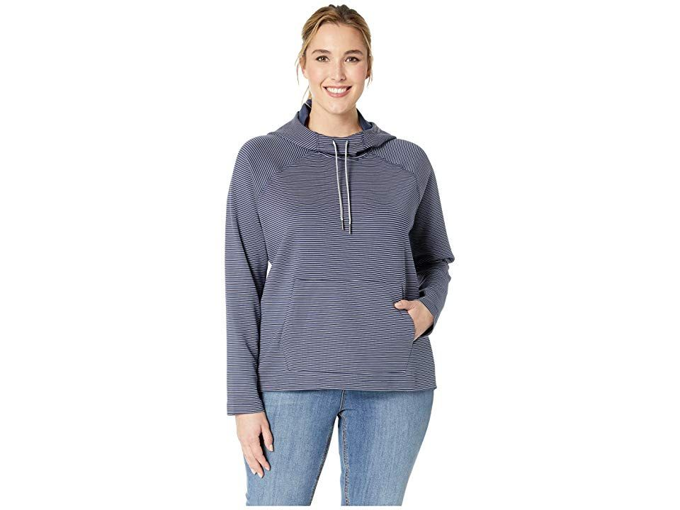 Columbia Plus Size Bryce Canyontm Hoodie (Nocturnal Stripe) Women's Sweatshirt. This Columbia Plus Size Bryce Canyon Hoodie is a cozy and lightweight style that will keep you comfortable on every trail and outdoor adventure!  Omni-Shade UPF 50 fabrication protects your skin during outdoor activity by blocking harmful Ultraviolet A and Ultraviolet B rays UVA and UVB. Omni-Wick fabric  Moisture-wicking fabric moves perspirati #Columbia #Apparel #Top #Sweatshirt #Brown