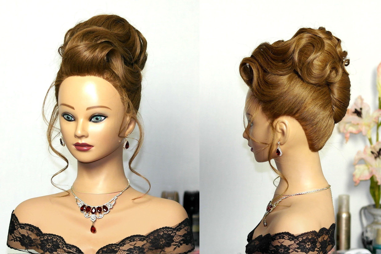 Elegant wedding updo. Hairstyles for long hair. Вечерняя прическа ...