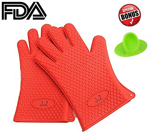 Heat Resistant Silicone BBQ Gloves by J&Z Including cool silicone pinch holder J&Z http://www.amazon.com/dp/B00RXJJQB0/ref=cm_sw_r_pi_dp_LVIlvb0V8BF4V