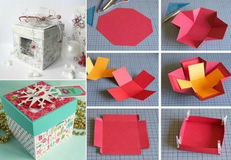 Explosionsbox Basteln Zu Weihnachten Geschenk Und