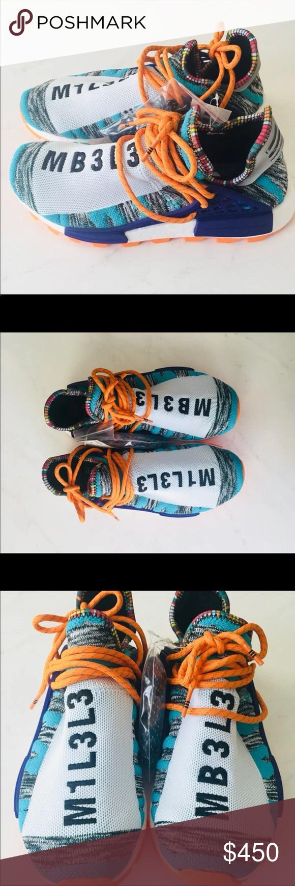 Adidas Nmd Human Race Solar Orange Aqua Size 7 Nwt Orange