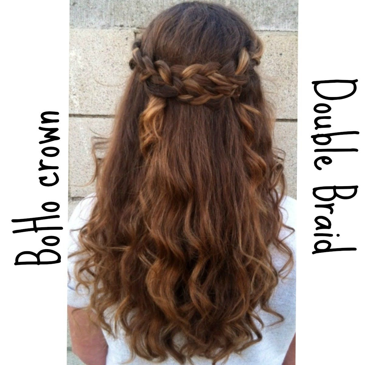 Braided Half Up Down Hairstyle