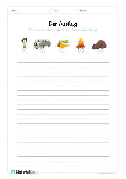 Ein kostenloses Arbeitsblatt zum Thema Bildergeschichten, auf dem ...