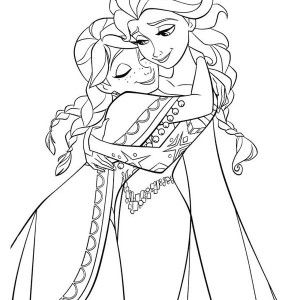 Frozen Anna Hugging Elsa The Snow Queen Coloring Page Anna Hugging Elsa The Snow Q Elsa Coloring Pages Disney Princess Coloring Pages Princess Coloring Pages