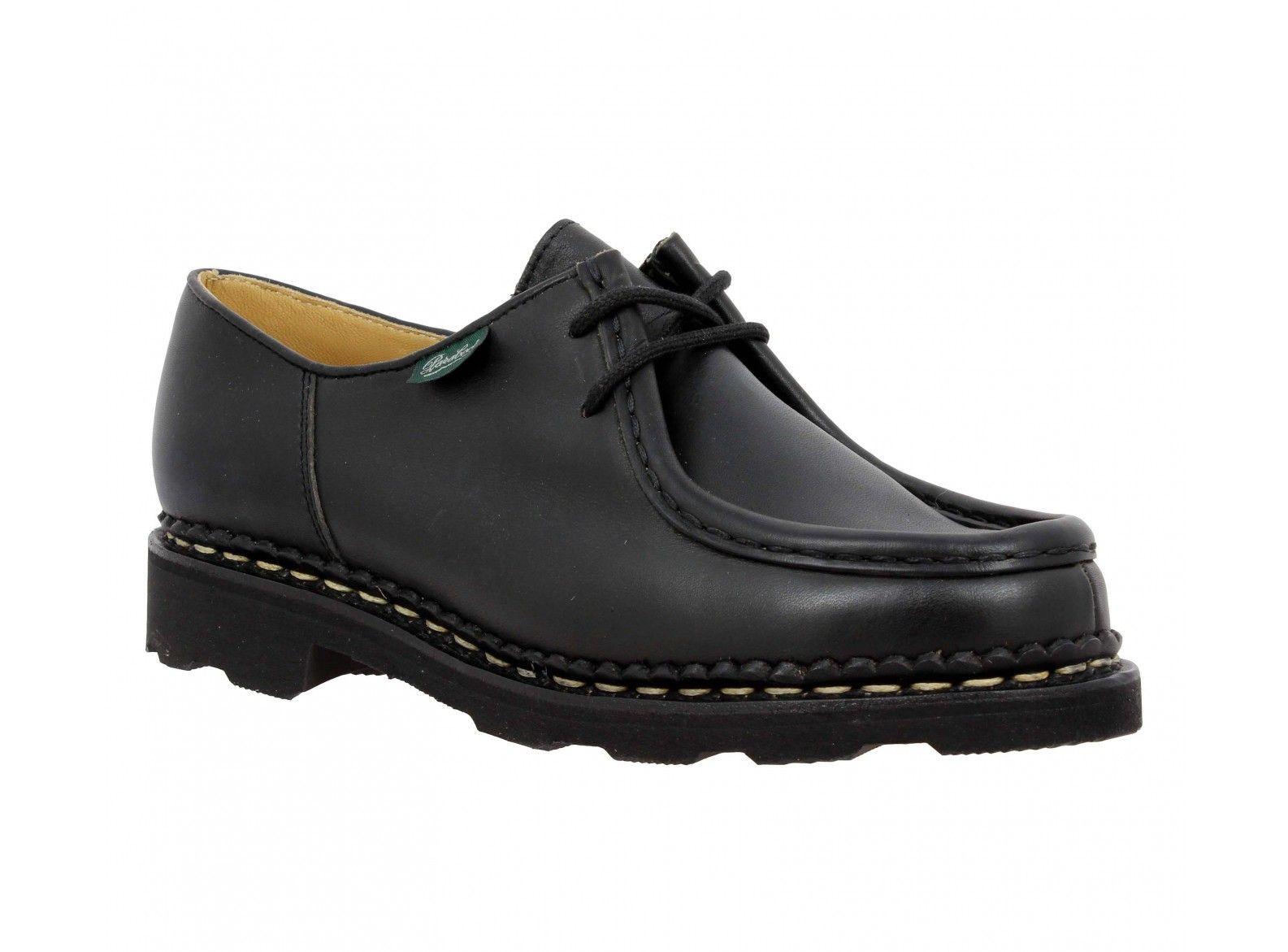 7f3b66501 PARABOOT Michael cuir Femme Noir | Ma Chaussure | Cuir femme ...