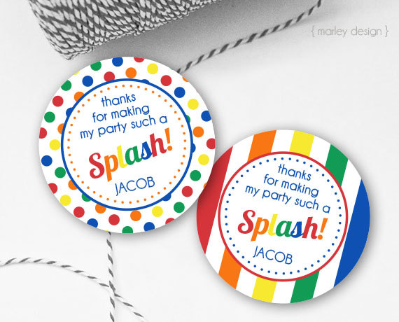 pool party favor tags pool party tags printable splash party tags