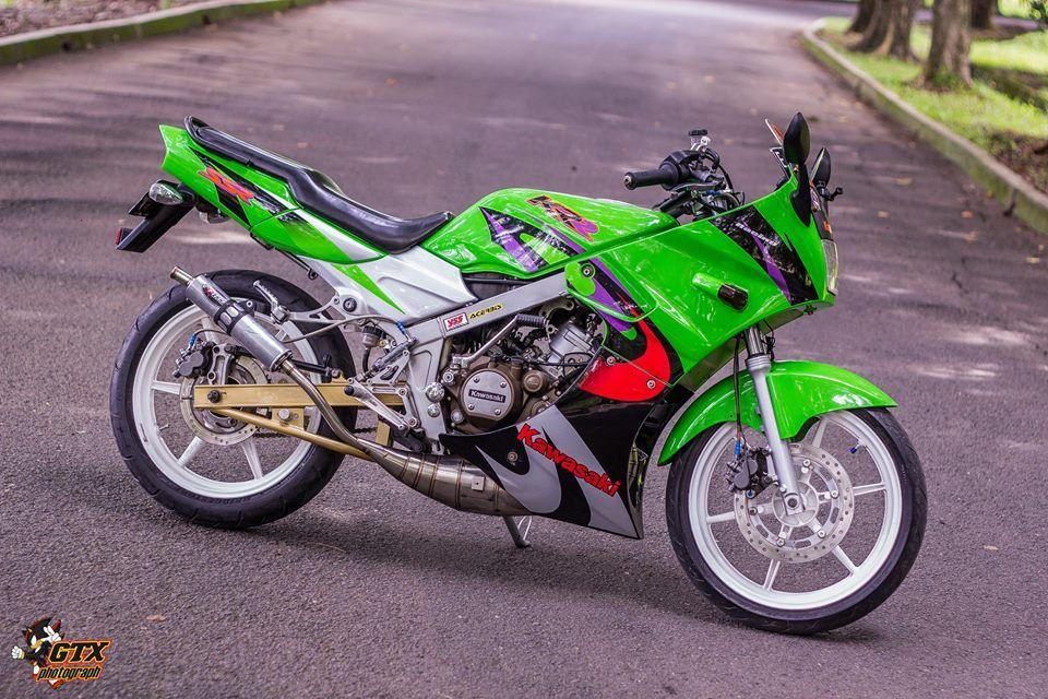 Gambar Modifikasi Kawasaki Ninja KRR SSR E6 Warna Hijau