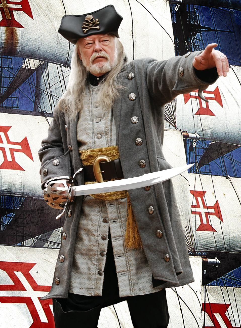 Larp piratenmantel