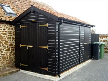 Pin By Rural Urbanite On Build A Shed Painted Garden Sheds Garden Office Shed Building A Shed