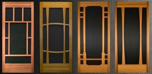 Hand Made Cedar Wood Screen Doors For Home Decoration Wood Screen Door Wooden Door Design Wooden Screen Door