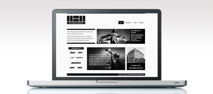 Website for Media Brands Management Berlin