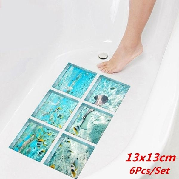 13x13cm 3D Anti Slip Waterproof Bathtub Stickers Bathroom Stickers(6pcs) | Wish #waterripples