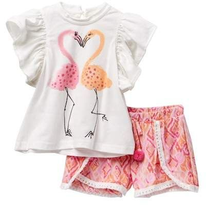 eadd7d8ca Jessica Simpson Flamingo Top with Shorts 2-Piece Set (Baby Girls ...