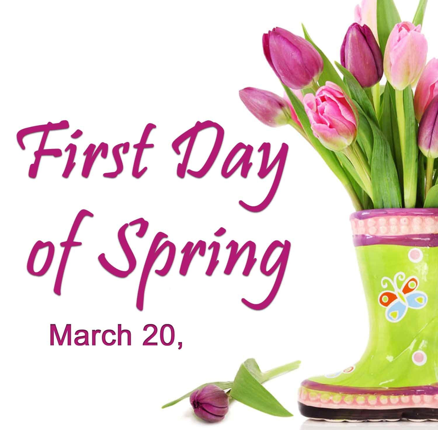 First Day Of Spring. And Jean's birthday. HAPPY BIRTHDAY ...